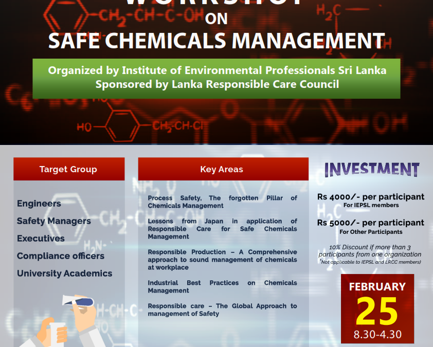 Workshop on Safe Chemicals Management