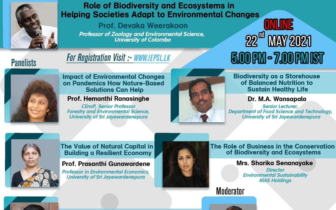 HEALTHY ECOSYSTEMS FOR HEALTHY LIFE