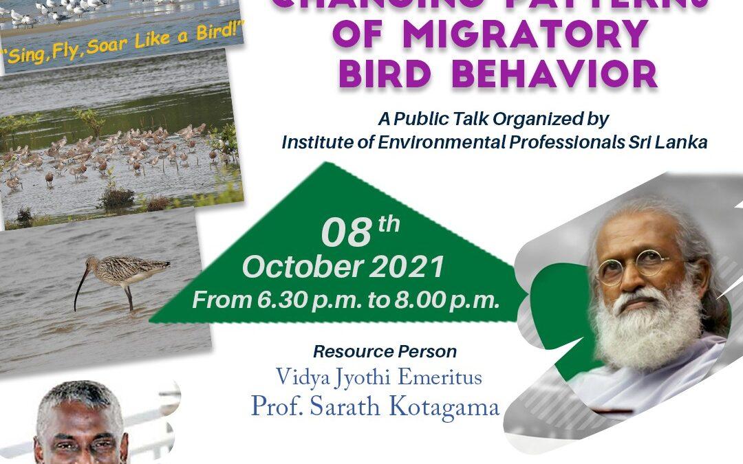 Changing Patterns of Migratory Birds Behavior